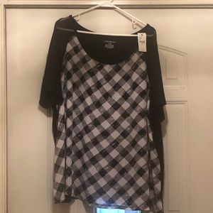 Lane Bryant Top-black and white